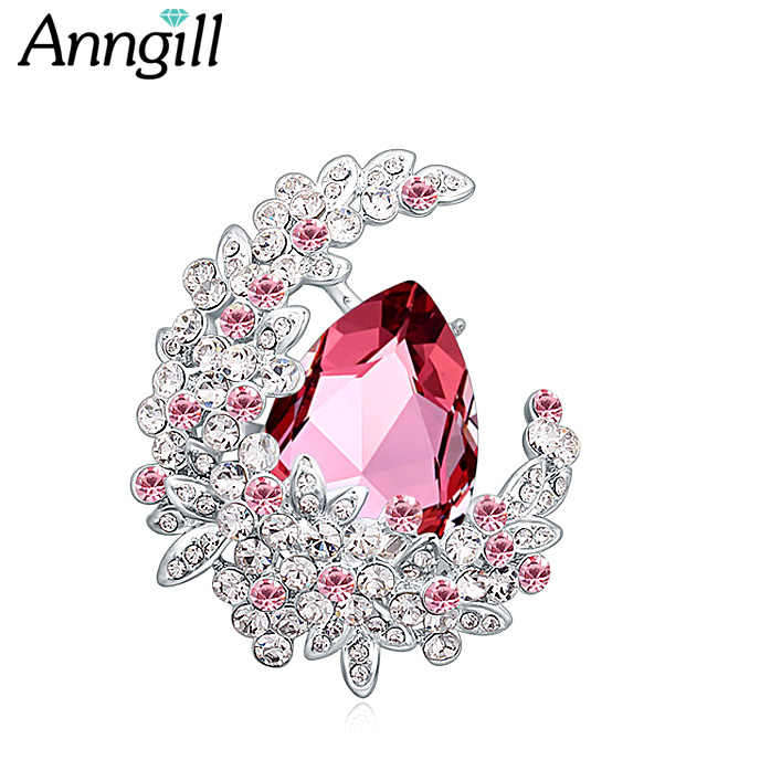 Luxury Crystal from Swarovski Brooch Pins For Women Top Quality Flower  Broches Jewelry Fashion Wedding Party f03da425237c