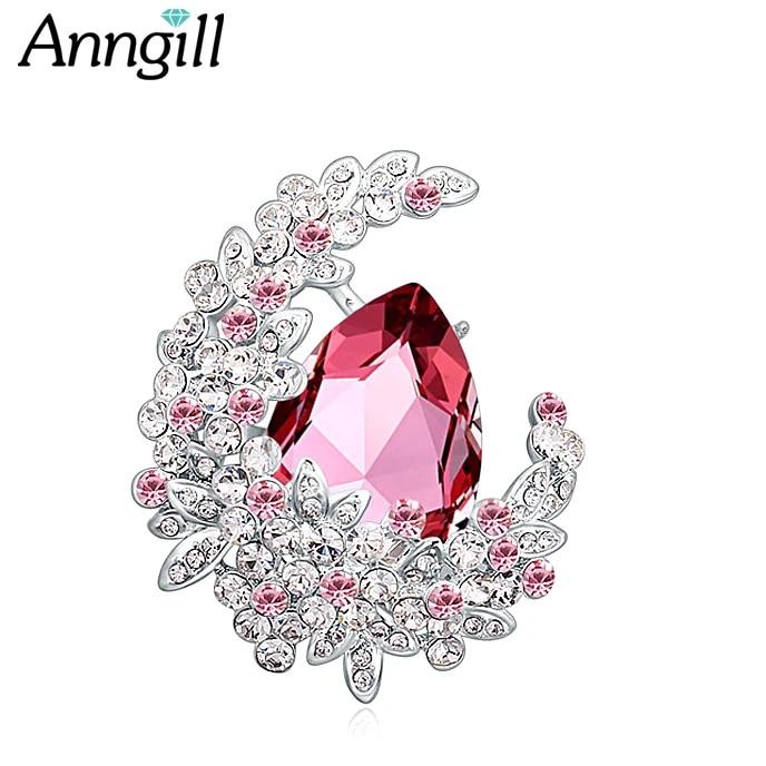 Broche de luxe en cristal Swarovski pour femmes, Bijoux de bonne qualité, à  la mode, pour fête de mariage