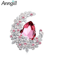 Luxury Crystal from Swarovski Brooch Pins For Women Top Quality Flower Broches Jewelry Fashion Wedding Party Bijoux Broche Femme