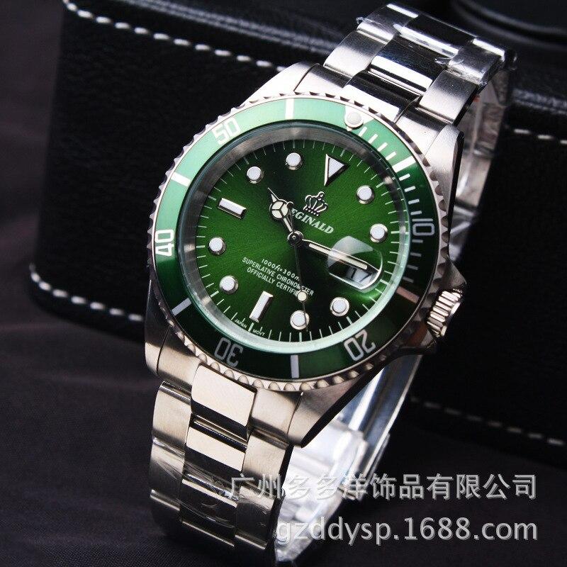 2016 Luxury Brand Wrist Watch Hk Crown Fashion Men Rotatable Bezel GMT Sapphire Glass Date Stainless Steel Dress Quartz Watches
