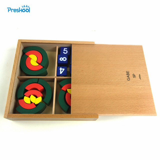 Montessori Baby Kids Toys Wooden Froebel Gabe 5P Teaching Assist Tool Learning Educational Preschool Training Brinqudoes Juguets