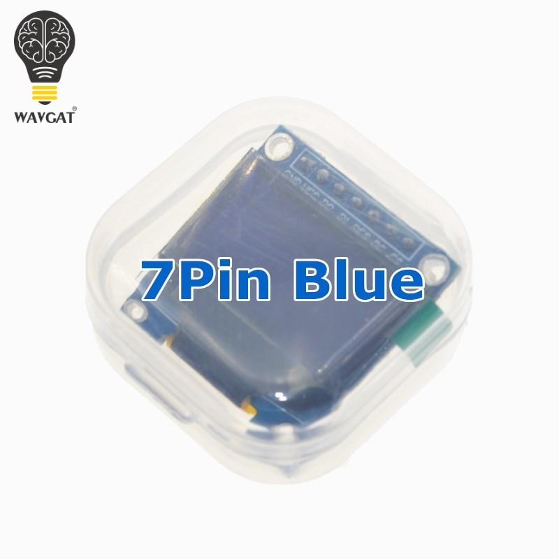WAVGAT 0.96 Inch SPI OLED Display Module Blue color 128X64 OLED 7Pin Driver Chip SSD1306 for arduino