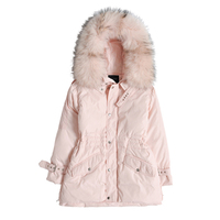 Winter Casual Women Fashion Pink Down jacket Women Winter Down jacket Coat Big Fur Collar Hooded Loose Down jacket Female