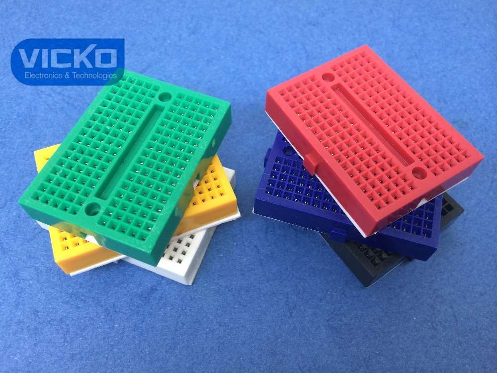 [VK] SYB-170 Mini Solderless Prototype Breadboard 170 Tie-points For ATMEGA PIC For Arduino UNO Connector