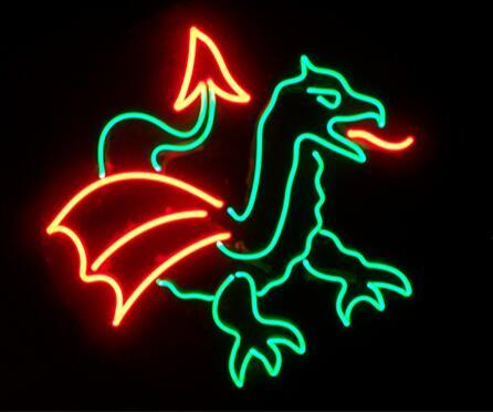Custom Tattoo Dragon Glass Neon Light Sign Beer Bar Custom Made 1