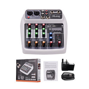 Image 2 - Muslady AI 4 Compact  Mixing Console  Reverb Effect Digital Audio Mixer BT MP3 USB Input +48V Phantom Power for Music Recording