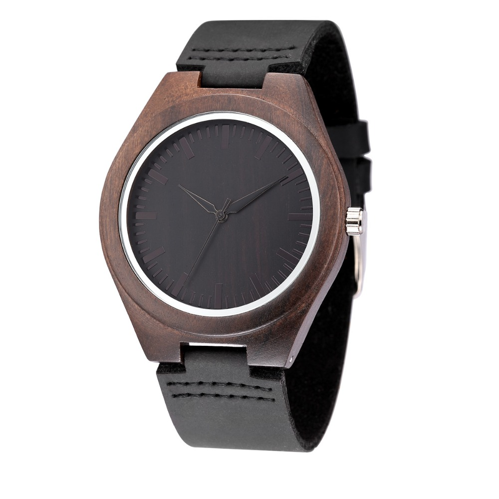 WEISIKAI Fashion Wooden Design Mens Womens Watches Casual Simple Leather Quartz Watch Scale Black Dial Wood Luxury Wristwatches (10)