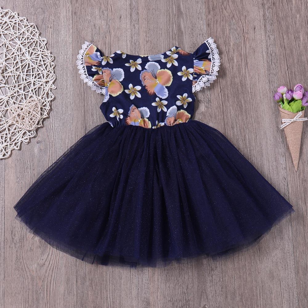 8d35a9ce8cb7 Summer Baby Girls Dress Flower Girls Dress Navy Blue Night Sky Bling ...
