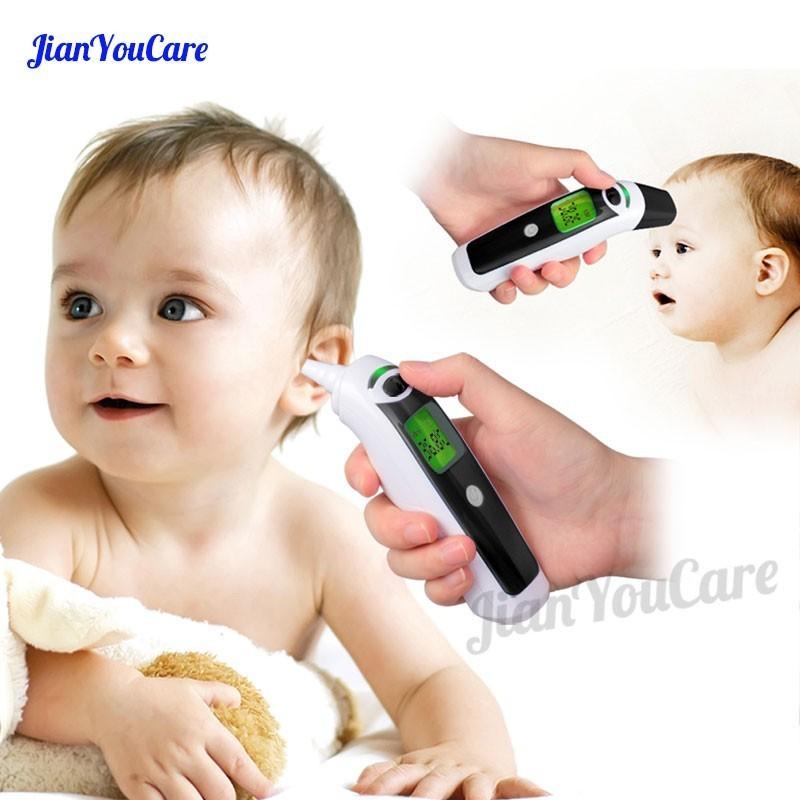 Thermometer Heim-gesundheitsmonitor Zielsetzung Neue Baby Thermometer Digital Infrarot Ir Lcd Baby Stirn Und Ohr Nicht-kontaktieren Erwachsene Körper Fieber Messung Termometro Termometr