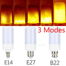 Фотография 5W 360 Degree Flame Flickering Effect Emulation Fire Light Bulb Decorative Holiday E12 B22 E14 E26 SMD 2835 AC85-265v warm light