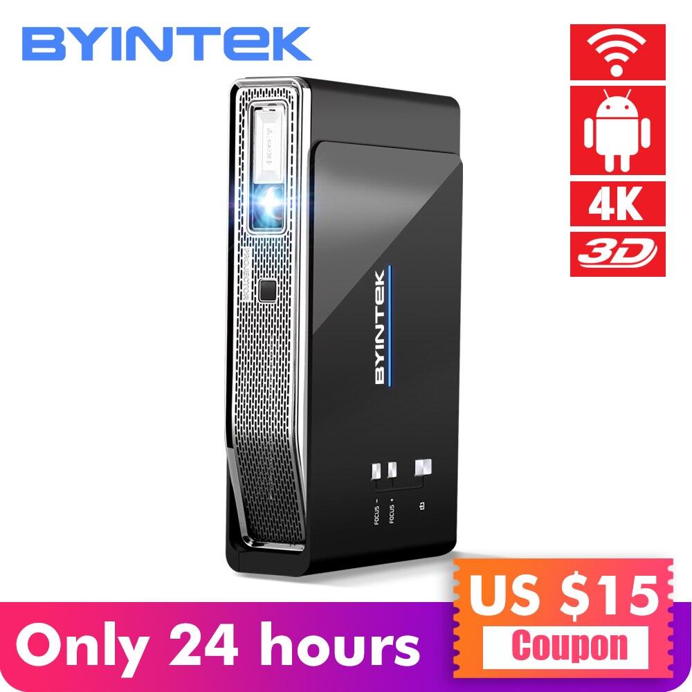 BYINTEK UFO R15 Smart Android WIFI vidéo Home cinéma LED Portable USB Mini HD DLP 3D projecteur pour Full HD 1080 P HDMI 4 K