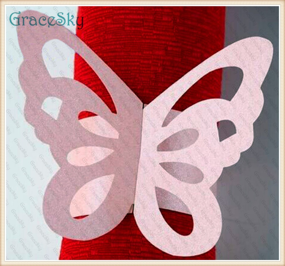 50PCS Towel Buckle Laser Cutting Butterfly Wedding Decorations ...