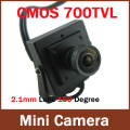 2.1mm Wide Angle Mini HD 700TVL 1/4'' CMOS Security Video Color CCTV Camera