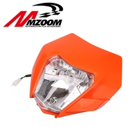 FREE SHIPPING 2015 2016 Motorcycle Dirt Bike Motocross Supermoto Universal New Headlight For KTM SX EXC XCF SXF SMR Headlamp