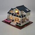 Hecho a mano Muebles de Casa de Muñecas Miniatura Diy Casas de Muñecas casa de Muñecas En Miniatura De Madera Juguetes Para Niños Adultos Regalo de Cumpleaños