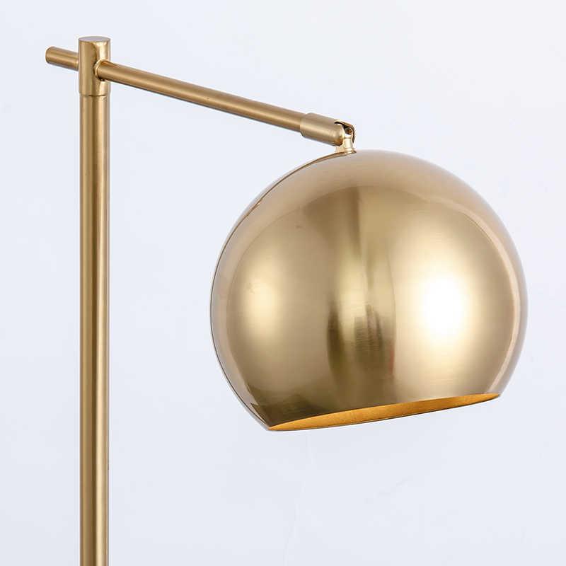 Modern Metal Table Lamp Loft Decor Bedside Lamp LED Dining Room Bedroom Copper Table Light with E27 Lamp holder Brass Color