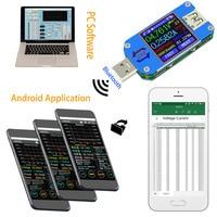 Sunyima um25 um25c app usb 2.0 tipo c lcd voltímetro amperímetro tensão atual medidor de carga da bateria medida cabo resistência tester|Medidores de tensão| |  -