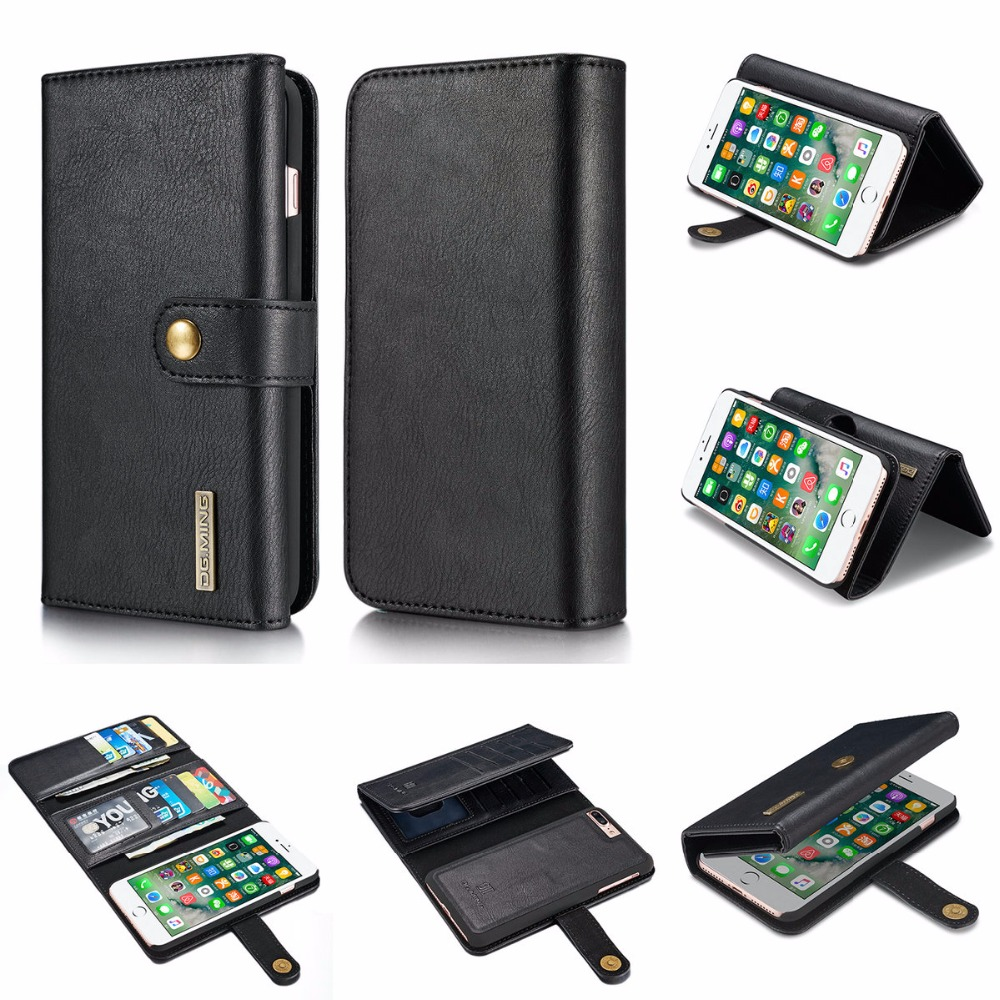 HYYGEDeal Phone cases 15 Cards Wallet PU Flip ID Card Holder Magnet Separated Leather for Apple iphone 7 8 iphone 7 plus 8 plus