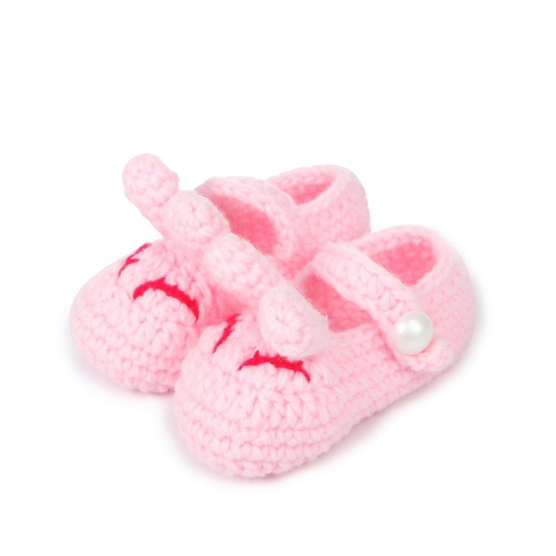 Baby Girls First Walkers Shoes Newborn Infant Girls Cartoon Rabbit Soft Bottom Shoes Cute Princess Crib Shoes Footwear Shoes