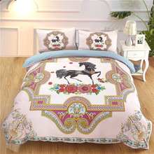 Blast Rainbow Unicorn Bedding Three-piece set of childrens covers polyester fiber Grinder Home Textile  Double kit Comfortable