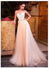 SoDgine Champagne Princess Wedding Dress 2019 Romantic Vestido de noiva  Strapless Bride Gowns Floor Length gown