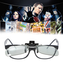 Universal 3D Plastic Glasses Red Blue Black Frame For Dimensional Anaglyph TV Movie DVD Game(China)