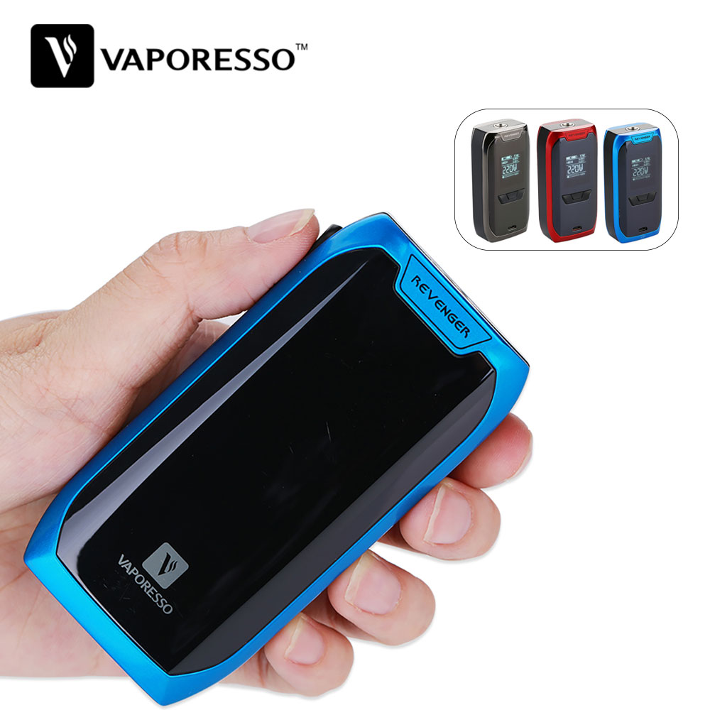 Original 220w Vaporesso Revenger TC Box MOD for Vaporesso NRG Tank Aomizer Max 220W Output No 18650 Battery E-cig Vape Box Mod цена