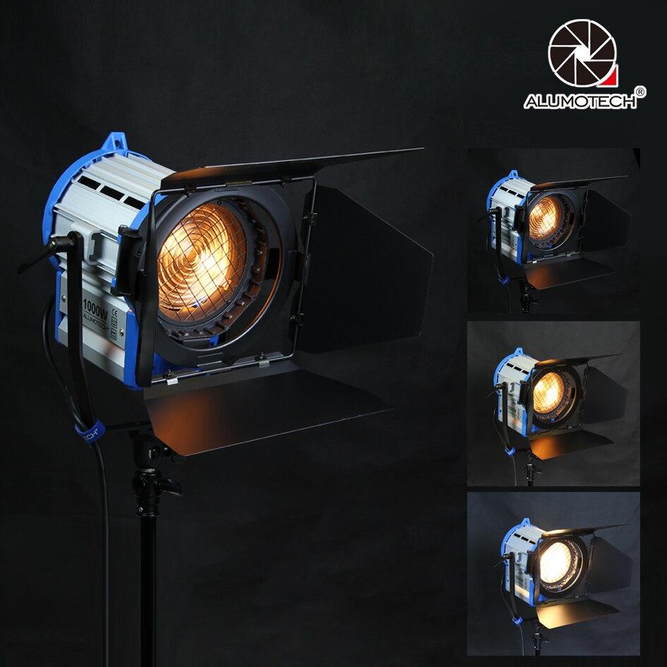 ALUMOTECH Pro Comme ARRI 1000 w Tungsten Spot light + Gradateur Intégré + globes Éclairage