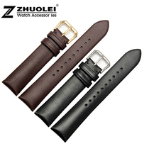 New 18mm 20mm 22mm New High Quality Black Brown Genuine Leather Watchband strap bracelets fit AR watches band