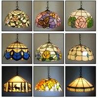 Барокко Тиффани подвесные светильники пятнистости Стекло цепи освещения подвесной светильник для дома кафе Обеденная лампы E27 110 240 В