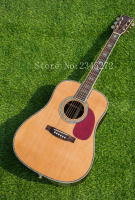 China Top Quality Log Color Classic Acoustic Guitar AAA Solid Spruce Top Rosewood Back And Sides