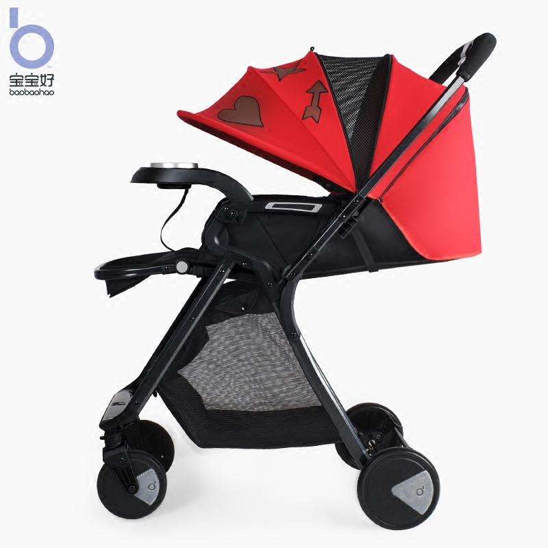 brand baby car Baby Stroller Qk1 High View Can Si and Can Lie trolley Light Folding Children's strollers Two-way Baby Carriage купить недорого в Москве
