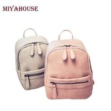 Miyahouse корея стиль женщины рюкзак моды конфеты цвет мини рюкзаки женская повседневная кожа pu рюкзак женский небольшие рюкзаки
