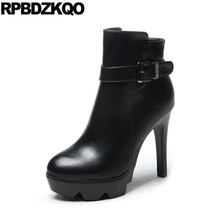 Waterproof Ankle Extreme Ladies Size 34 European Fur Shoes Stiletto Fashion  Sexy High Heel Booties Zipper Women Boots Winter d65e8fa1526b