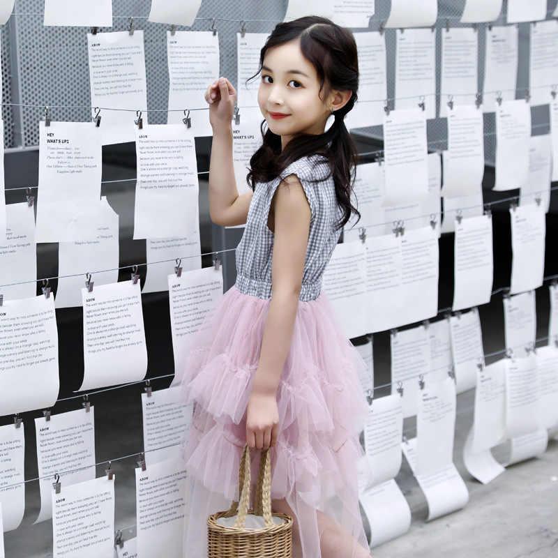 بير ليدر فستان بناتي صيف 2019 فستان أميرات للبنات ملابس أطفال بلوزة بأكمام منقوشة مع توتو فستان الأميرات لعمر 4-13 سنة