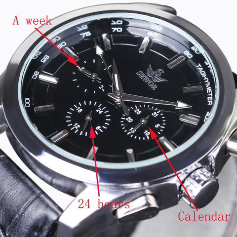 SEWOR Top Brand Luxury Men Watches 6 Hands 3 sub-dials Rotate Military Aviator Automatic Mechanical Watch Pilot Wrist Watches Lahore