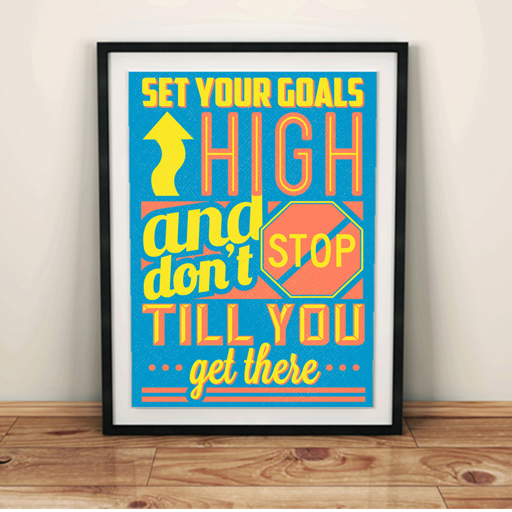 Quotes Vintage Retro A4 Large Art Print Poster Inspiration Colorful ...