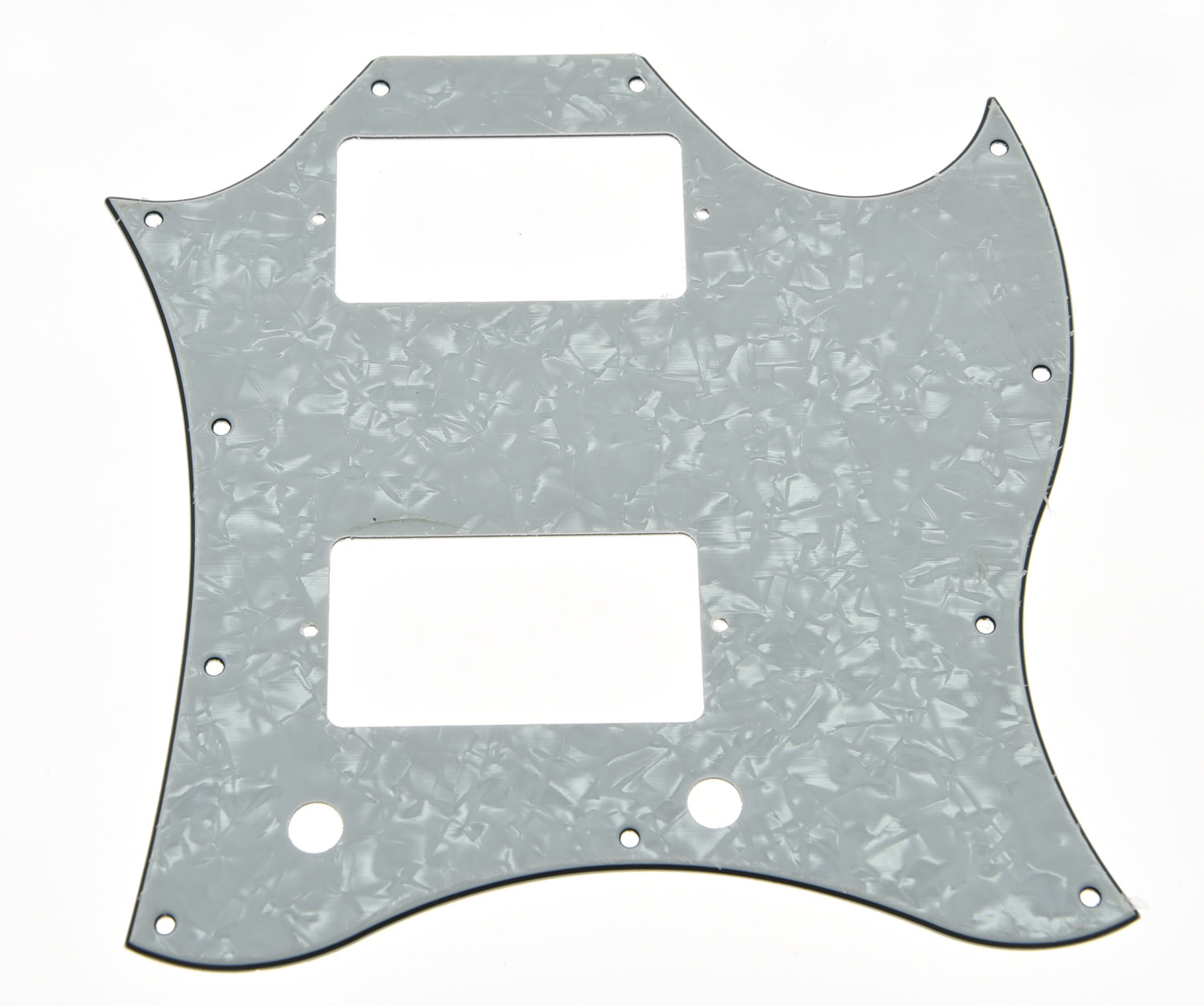 KAISH SG Standard Full Face Guitar Pickguard Scratch Plate White Pearl 3 Ply w/ Screws kaish various colors st style hss guitar pickguard scratch plate trem cover screws