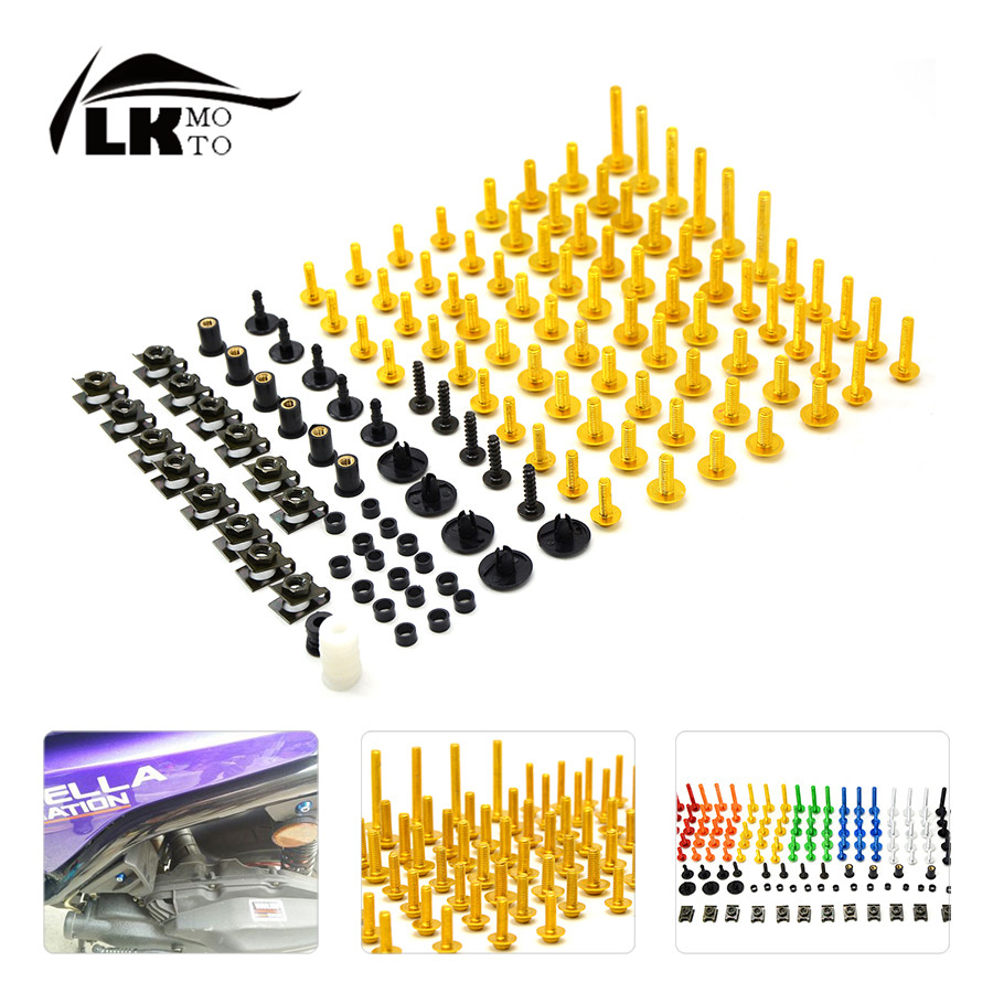 Universal CNC Motorcycle Fairing Body Work Bolts Spire Speed  Fastener Clips Screws Nuts for KAWASAKI  Z800 z 800 125/200 DUKE