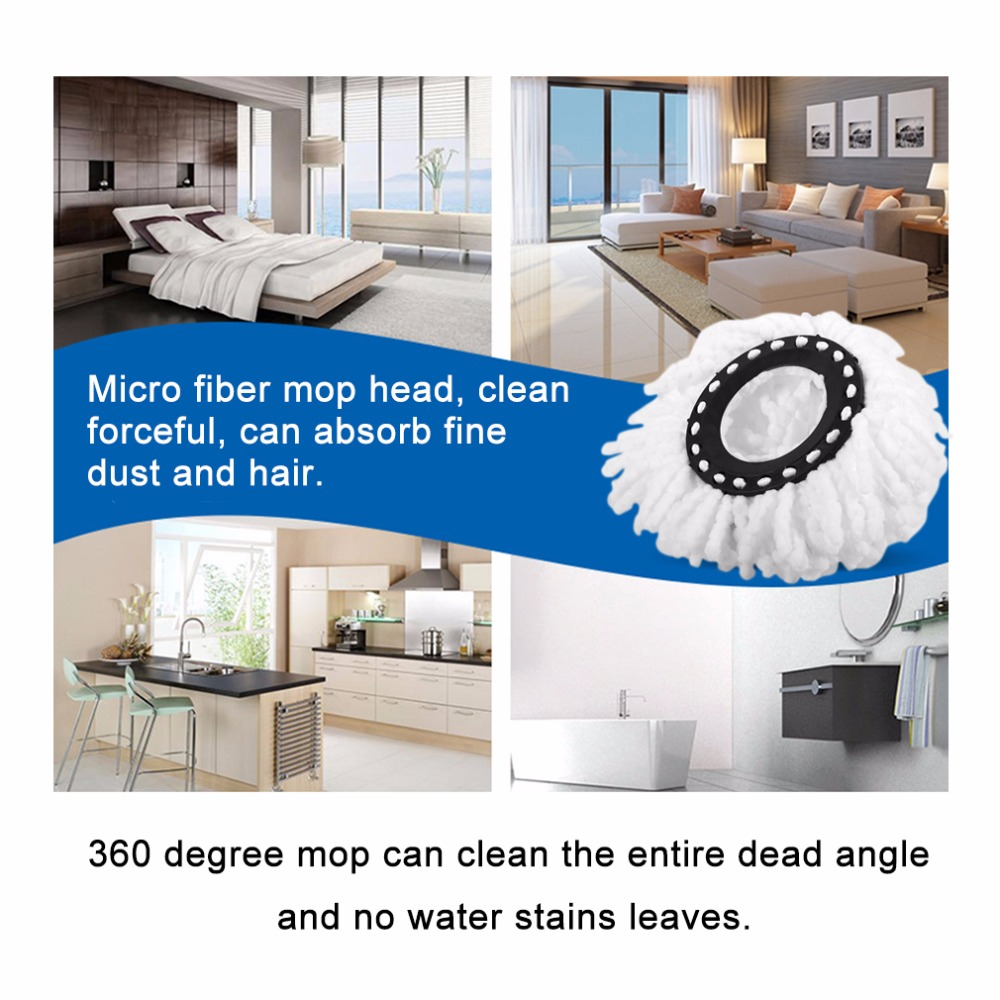 Home Use Super Soft Microfiber Home Cleaning Floor Mop Heads 360 Degree Rotation Cleaning Tool Replacement Round Floor Mops