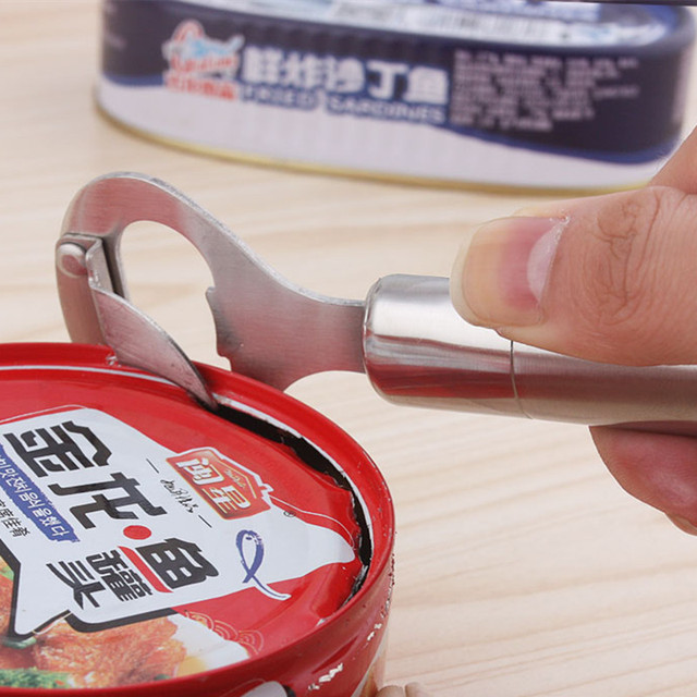 New arrival stainless steel tin can opener knives professional bottle opener for Restaurant cooking tools