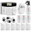 433 MHZ dual-rede GSM PSTN Assaltante Segurança SMS Casa Sistema de Alarme de incêndio/Detector de fumaça + porta/Kit Sensor de janela de Controle Remoto