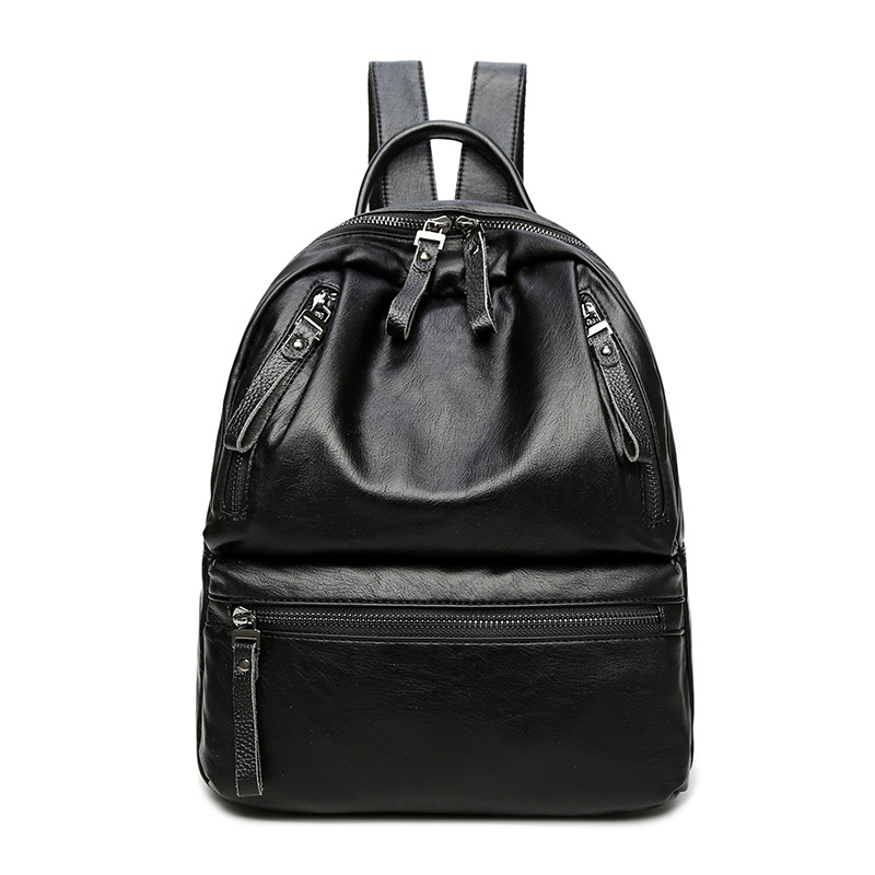 2017 Genuine Leather Women Backpack ladies shoulder bags female School Backpacks For Teenage Girls Travel Vintage Classic C253