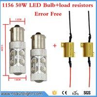 2x 1156 PY21W S25 50W LED Error Free Daytime Running Lights Turn Signal Dual Mode DRL