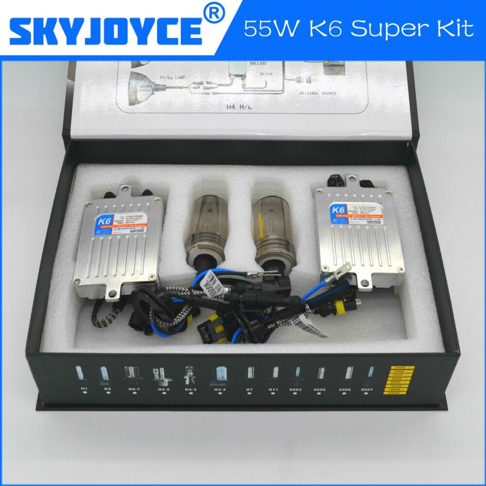 2017 FAST BRIGHT HID XENON KIT K6 SKYJOYCE HID BULB H1 H3 H7 H8 H9  H11 9005 9006 xenon hid kit fast start hid xenon kit