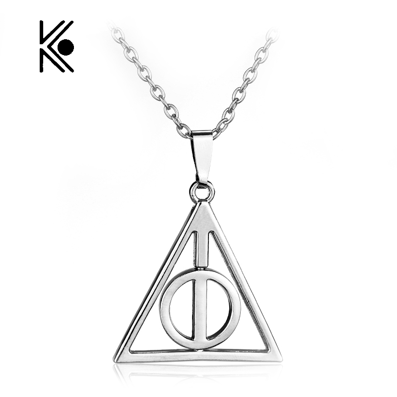 Deathly Hallows Triangle artifact rotatable Pendent Alloy s