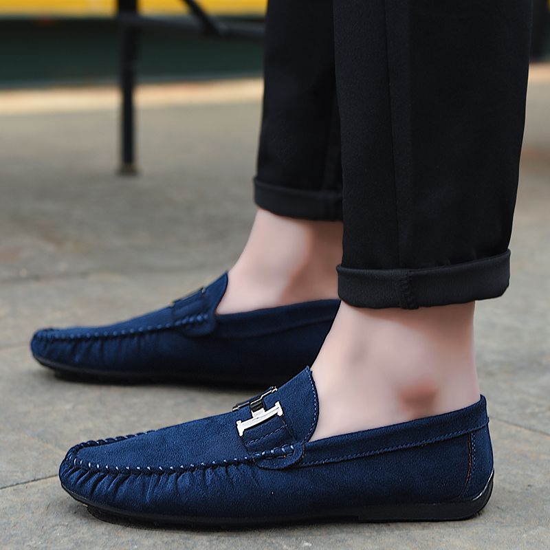 Humor Youth Fashion Male Shoes Blue Wine Red Loafers Designer Men Shoes Comfortable Men Walking Driver Shoes Non-slip Men Lazy Shoes Demand Exceeding Supply Men's Casual Shoes