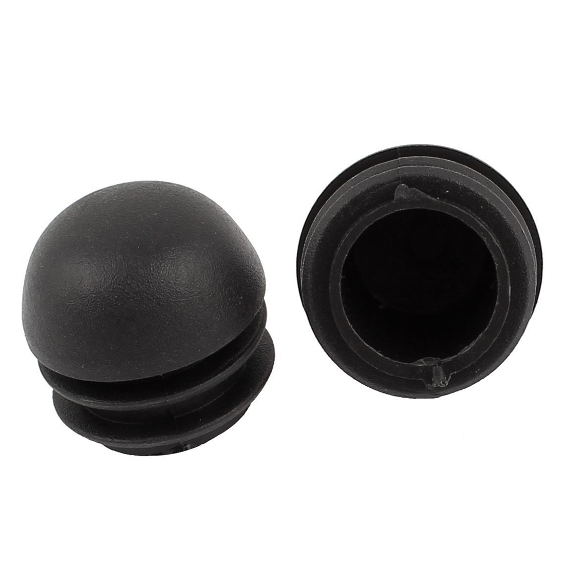 цена на Hot Sale 2 Pcs 25mm Dia Plastic Round Tube Inserts End Blanking Caps Black