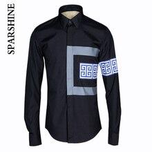 Patchwork 2016 New Fashion Casual Men Shirt Long Sleeve Slim Fit Shirt Men High Quality Cotton Mens Dress Shirts Men Clothes