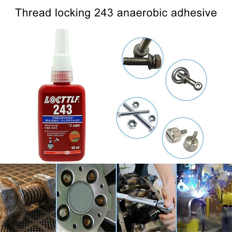1 Pcs 243 Medium Strength Threadlocker Anaerobic Adhesive Glue WWO66